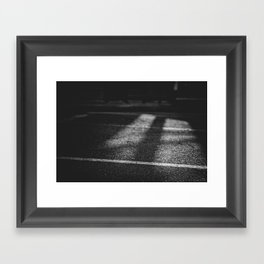 Lines and Shadows Framed Art Print