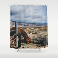 kerouac Shower Curtains featuring type-fast (kerouac had a first name) by heretosaveyouall