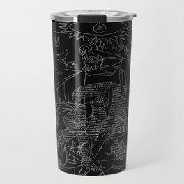 Picasso Line Art - Guernica (Black) Travel Mug