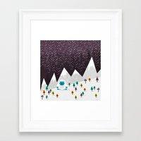 yeti Framed Art Prints featuring Yeti by Kakel