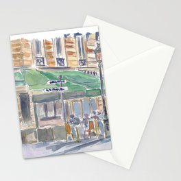 Paris Street Scene Romantic Cafe Afternoon Stationery Cards