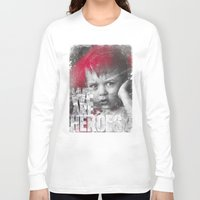 toddler Long Sleeve T-shirts featuring Hero Sessions III by HappyMelvin