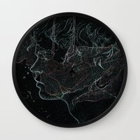 acid Wall Clocks featuring Acid by Christina Marie