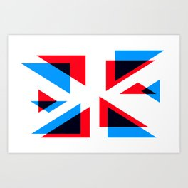 The Great British Flag-off - Abstract Union Jack Flag Expanded Art Print