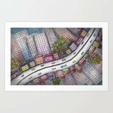 Driving Home From Boston Art Print