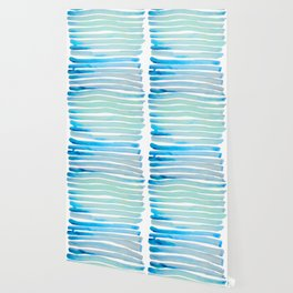 New Year Blue Water Lines Wallpaper