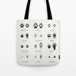 Infographic Guide for Animal Tracks (Hidden Tracks) Tote Bag