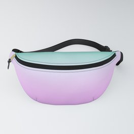 Ombre Pastel Mint Pink Ultra Violet Blurred Gradient Minimal Pattern Fanny Pack