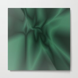 Green silk Metal Print