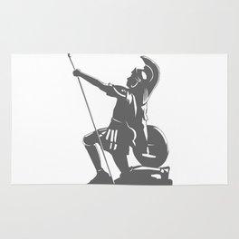Kneeling Warrior Rug