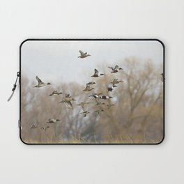 Ducks in Autumn Flight Laptop Sleeve