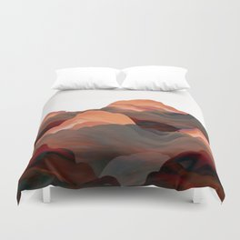 """Coral Mountains"" Duvet Cover"