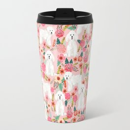 Bichon Frise must have gifts for dog lover bichon owner cute dog portrait Travel Mug