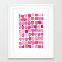 lipstick Framed Art Prints featuring Lipstick by Amy Sia