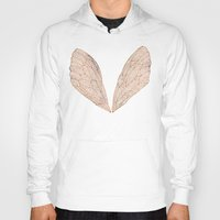 rose gold Hoodies featuring Cicada Wings in Rose Gold by Cat Coquillette