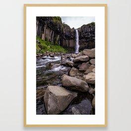 Svartifoss Framed Art Print