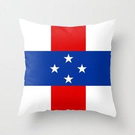 Dutch Caribbean Flag Throw Pillow
