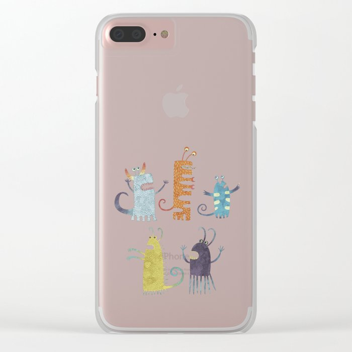 Secretly Vegetarian Monsters Clear iPhone Case