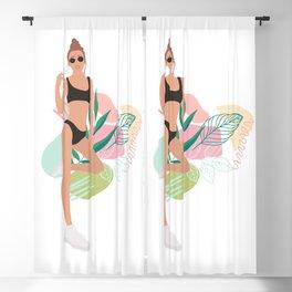 Summer Girl I Blackout Curtain