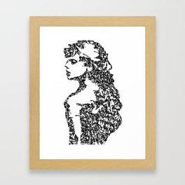 Kanji Calligraphy Art :woman's face #14 Framed Art Print