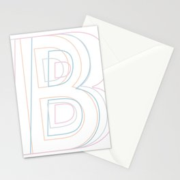 Intertwined Strength and Elegance of the Letter B Stationery Cards