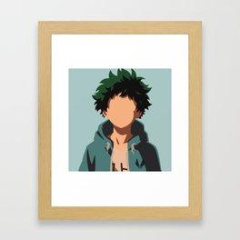 Izuku Midoriya My Hero Academia Framed Art Print