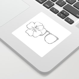 I see flowers Sticker