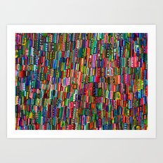 Traffic in India Art Print