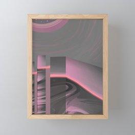 Claraboya, Geodesic Habitacle, Pink neon room Framed Mini Art Print