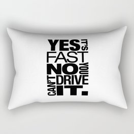 Yes it's fast No you can't drive it v6 HQvector Rectangular Pillow