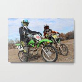 Sibling Racers Metal Print