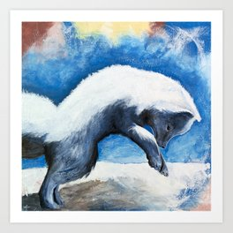 Animal - Antoine the Artic Fox - by LiliFlore Art Print