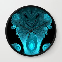 Black Ice Mirrored - Fractal Design Wall Clock