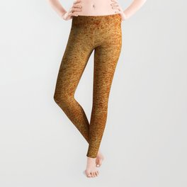 Vintage natural brown leather texture background Leggings