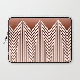 Art Deco Geometric Arrowhead Dusty Peach Design Laptop Sleeve
