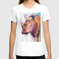 rhino T-shirts featuring Rhino by Slaveika Aladjova