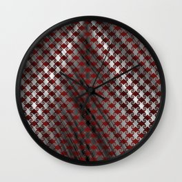 Red Metallic Swirl Wall Clock