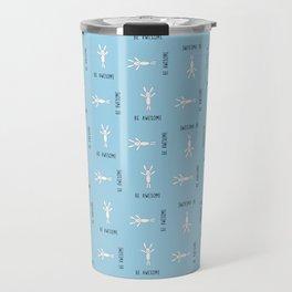 Be Awesome - Blue - Small Pattern Travel Mug
