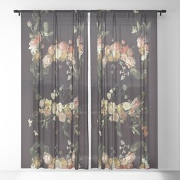 Every hour of the light and dark is a miracle Sheer Curtain