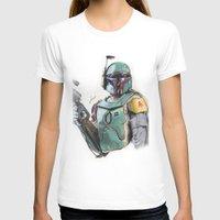 boba fett T-shirts featuring Boba Fett by lunaevayg