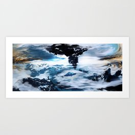 Concept Art Upside Down World Art Print