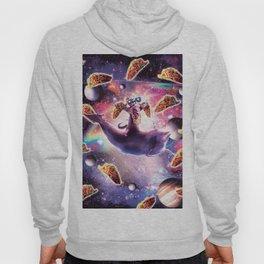 Thug Space Cat On Dolphin Unicorn - Taco Hoody