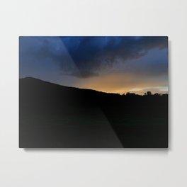 White Mountain Stormy Sunset Metal Print