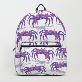 Purple Peacock Crab on the Run Backpack