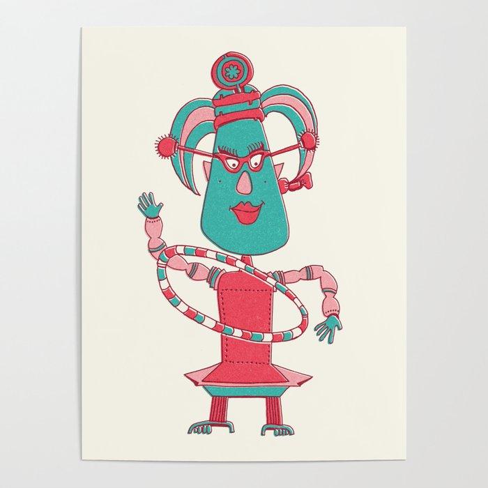 Robot Alien Monster No 021 Poster