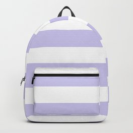 Soap - solid color - white stripes pattern Backpack