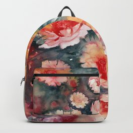 Floral Impressionist Watercolor Backpack