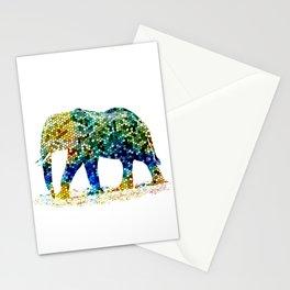 Mosaic Elephant Stationery Cards
