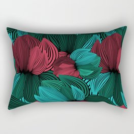 Big Flowers Rectangular Pillow