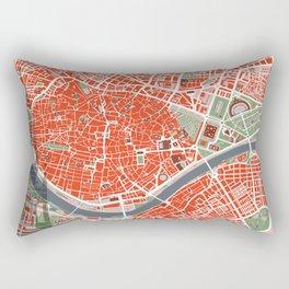 Seville city map classic Rectangular Pillow